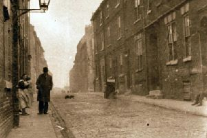 Burleigh Street, scene of the black pudding deluge in 1931.