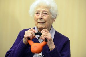 Staying Active in South Tyneside over 50's group.  Joyce McDonald
