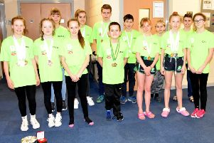 The Worksop Dolphins swimmers who did so well in the first weekend of the county championships.