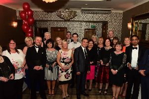 Some of the award winners at the Sunderland and South Tyneside Health Awards 2018.