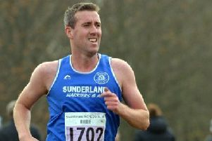 Sunderland Harrier Steve Rankin, who was among the prizes.