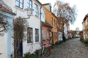 Mollestien, the most picturesque street in Aarhus.