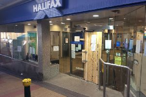 The scene at the Halifax on Windsor Court in Morley today.