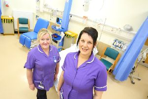 Emergency nurse practitioners Anne Spours and Sonia Arkle.