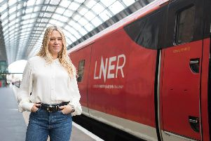 Broadcaster Edith Bowman launches LNER's Track Record, an audio journey which has been created to celebrate the people along the train operator's east coast route, and their diverse accents Pic: David Parry/PA Wire.