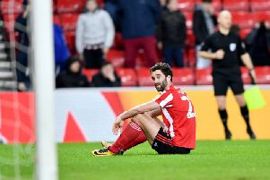 Will Grigg made his Sunderland home debut against Blackpool
