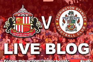 Sunderland AFC host Accrington Stanley at the Stadium of Light.