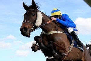 Jumping class: Shades of Midnight, ridden by Henry Brooke, wins at Haydock. (Picture: Clint Hughes/PA)