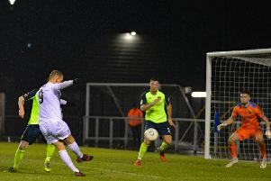 Danny Rowe was one of five Fylde players to score against Havant and Waterlooville Picture: STEVE MCLELLAN