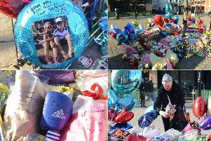Floral tributes left for Connor Brown.
