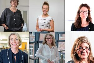 Some of The University of Sunderland's leading women - Prof Arabella Plouviez, Holly Sterling, Angela Smith, Prof Lynne McKenna, Debs Patten and Clarissa Smith.