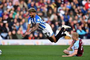 FLYING HIGH: Huddersfield Town's Philip Billing, left, should blossom if he remains in the Premier League. Picture: Anthony Devlin/PA.