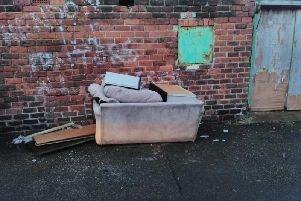 Edward Gill was spotted with the sofa that was dumped in Hendon.