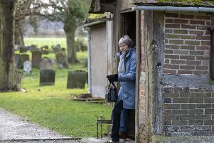 Theresa May attended a church service in her Maidenhead constituency ahead of another crunch week of Brexit votes.