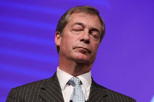 Nigel Farage will be in the North East this weekend. Picture: PA.