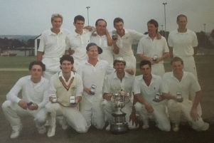 The Batley Cricket Club team of 1989, who won the Heavy Woollen Cup, Jack Hampshire Cup, Central Yorkshire League Division One title and Yorkshire Council Play-offs.