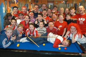 Having a ball at the Pennywell all-night games marathon 14 years ago.
