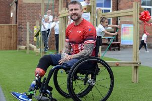 Invictus Games gold medal winner Stuart Robinson.