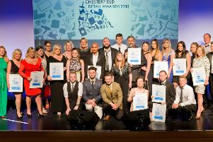 Last years winners at the Chesterfield Retail Awards, which are held at the Winding Wheel.