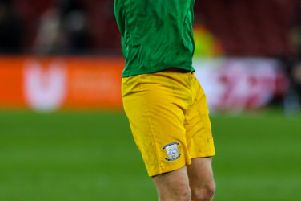 Jayden Stockley celebrates at the final whistle at the Riverside Stadium
