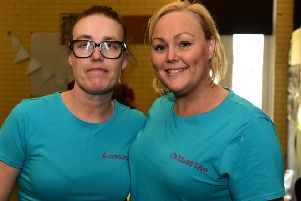 Cervical cancer survivors Annmarie Devlin (left) and Catherine Baker (right).