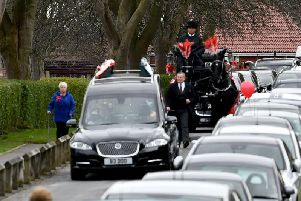 The funeral of Connor Brown.