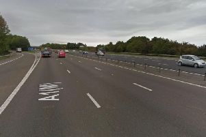 The collision has closed an entry sliproad on the northbound carriageway of the A1(M). Image copyright Google Maps.