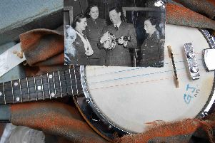 One of the ukulele banjos that were used by George Formby