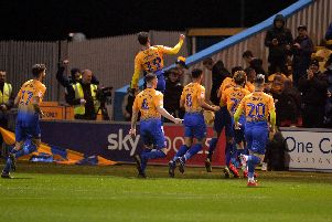 Stags celebrate their winner
