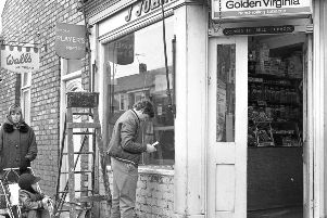 Back to 1970 for this view of J Johnson's shop in Fulwell Road.