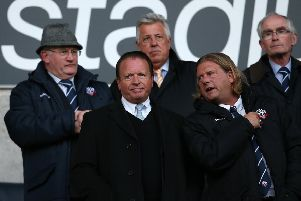 Bolton chairman Ken Anderson, second left.