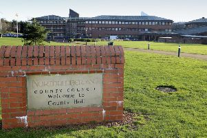 Northumberland County Council's headquarters.