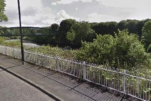 Emergency services called to River Wear where it passes between Fatfield and Houghton. Picture by Google