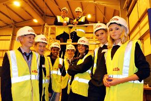 Pupils from Castleview School learn about a career in the industry in 2003.