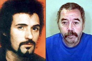 Composite picture of Peter Sutcliffe, left, and John Humble, right.