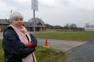 Green space campaigner Lilan Milne at the site