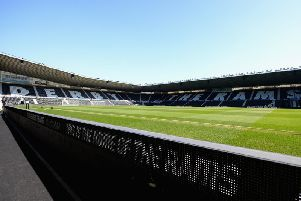 Derby County's Pride Park Stadium.