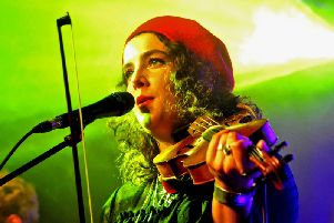 Holy Moly & The Crackers launched third album Take A Bite with a hometown gig at The Cluny in Newcastle. Pic: Gary Welford.