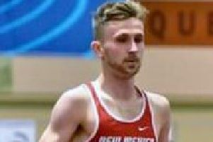Michael Wilson, who set a Sunderland Harriers club record in the States.