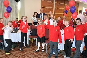 The children pictured with Derbyshire PCC.