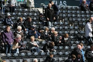 Derby fans at the Bolton game