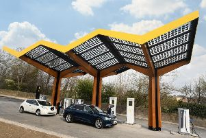 The UK's first fast charging station for electric vehicles goes live in Sunderland today