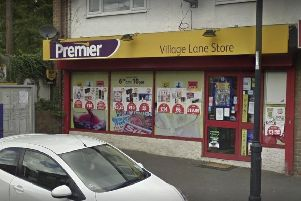 The armed robbery happened at the convenience store in Village Lane. Picture by Google