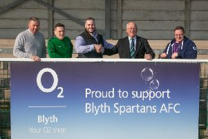 O2's store in Blyth has become digital strategic partner with Blyth Spartans for the next two years.