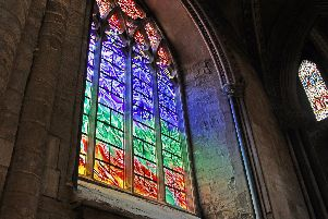The beautiful new window at Durham Cathedral.