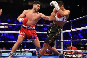 Josh Kelly in action live on Sky Sports last year (Matchroom Boxing).