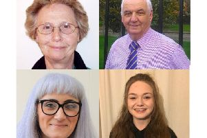 Top (l-r):Pat FRANCIS (The Conservative Party Candidate) and Reg COULSON (UKIP)'Bottom (l-r): Melanie THORNTON (Labour Party) and Esme Rose Stafford FEATHERSTONE (Green Party candidate)