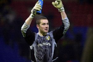 BACK IN THE DAY: Leeds United goalkeeper Paul Robinson pictured back in 2002.