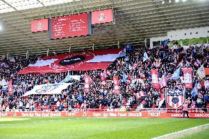 Sunderland fans show their colours against Coventry.