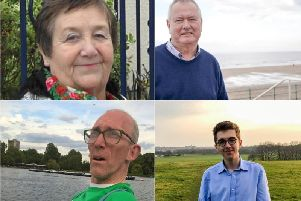 The candidates for the Fulwell ward. Clockwise from top left Margaret Beck, Malcolm Bond, James Doyle, Robert Welsh.